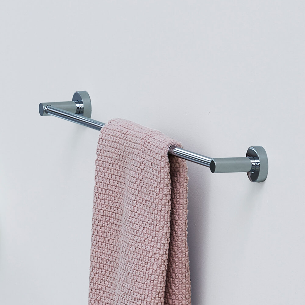 Bathroom Accessory Modern Style 4 Hook Design Folding Chrome Stainless Steel Bathroom Wall Hung Mounted Hotel Bath washroom Towel Rack Bath Hardware